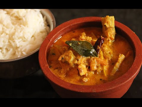 Unakka Chemmeen Chakkakuru Manga Curry (Dried Shrimps with Jackfruit...