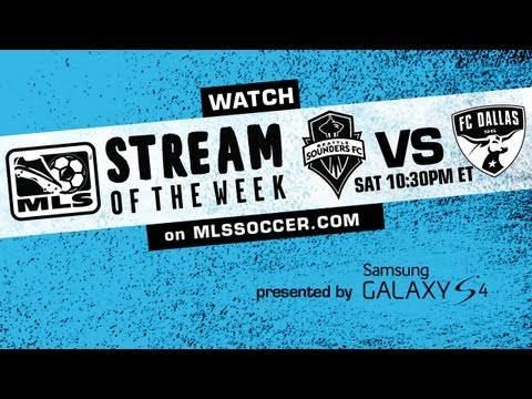 LIVE FREE Stream of the Week: Seattle Sounders vs FC Dallas promo