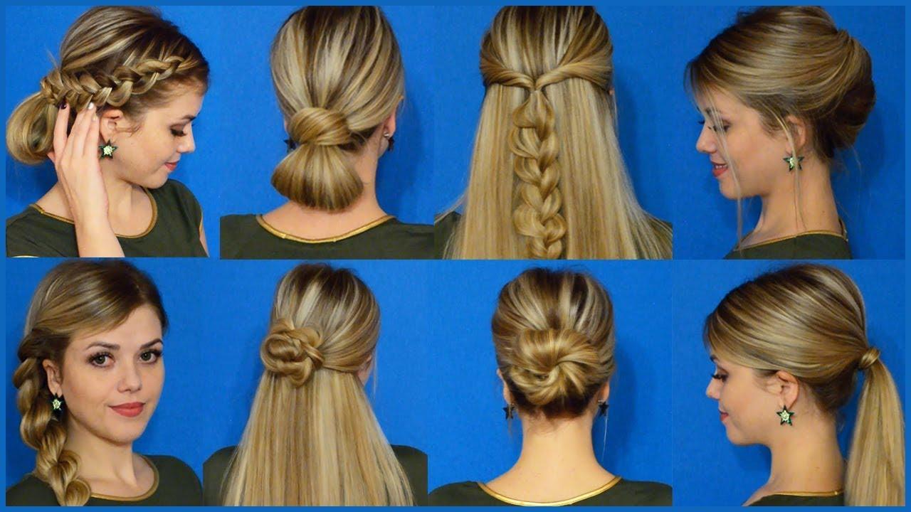 Легкие повседневные прически на средние волосы своими руками в школу 10