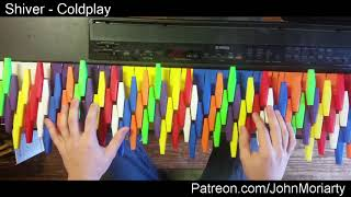 Shiver by Coldplay (COVER) on a 3D Printed Isomorphic Keyboard Overlay