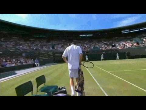 WIMBLEDON Tennis 2009 - MICHAEL LLODRA CRASHES INTO BALL GIRL Music Videos