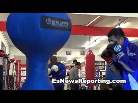 Mongolian Boxing Star & Olympic Winner King Tug Working Out -  EsNews boxing