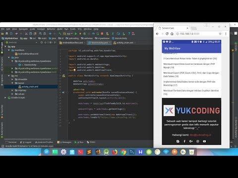 Membuat Aplikasi WebView dengan Android Studio