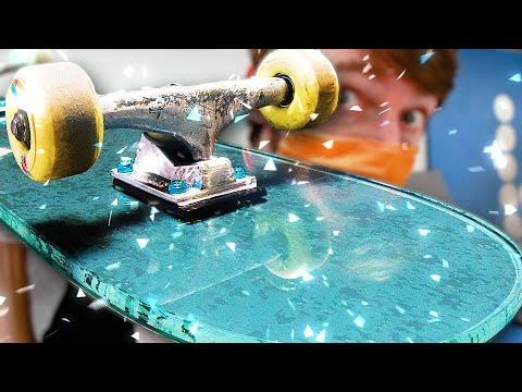 GLASS SKATEBOARD WITH GRIPTAPE!