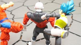 DRAGON BALL STOP MOTION JIREN VS SON GOKU(GOKOU) AND VEGETA DRAGON STARS