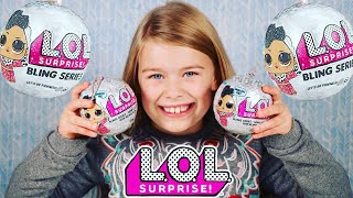 LOL SURPRISE BLING SERIES DOLLS UNBOXING! NEW L.O.L SURPRISE HOLIDAY SERIES