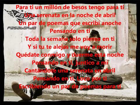 Para Ti (Version Balada) Letra Pasabordo