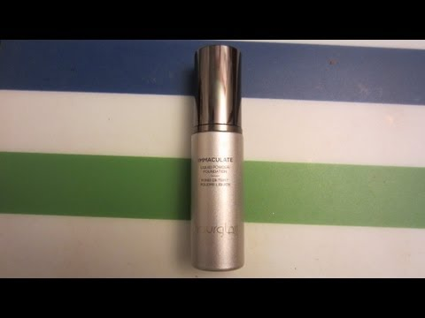 Hourglass Immaculate Liquid Powder Foundation Review and Application (oily skin)