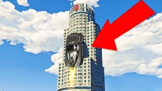 VERTICAL TOWER CLIMB CHALLENGE! (GTA 5 Funny Moments)