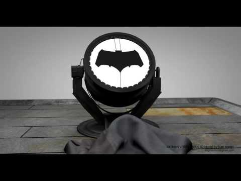 Batsignal 3D model turntable 4K.