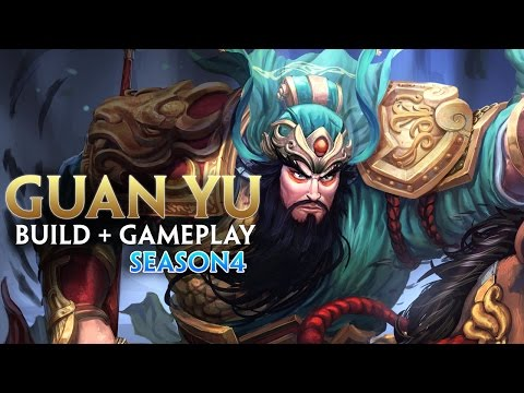 SMITE SEASON 4 : GUAN YU Build + Gameplay!