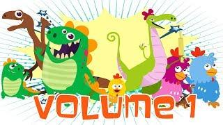 Dino e Dina Dinossauros Volume 1 - Episódios 1 a 5 - Desenho animado com dinossauro.