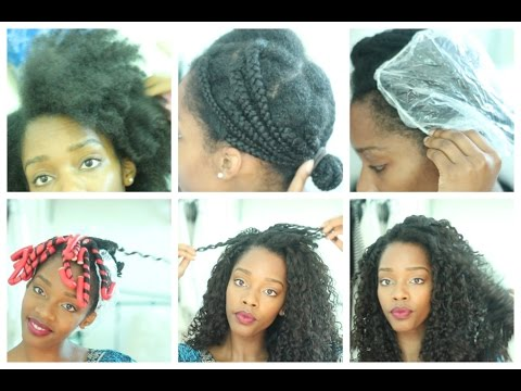 How To   Blending Natural Hair With Curly Weave [No Heat]