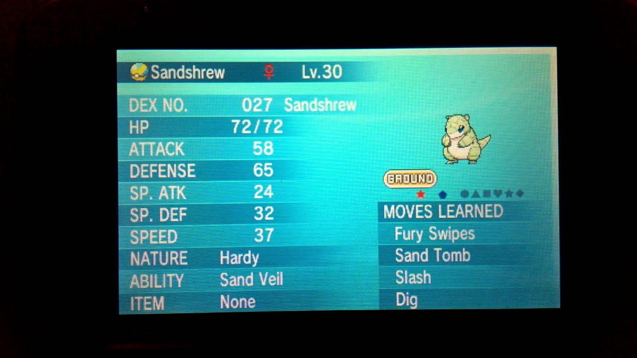 Shiny Sandshrew Pokemon Moon Images