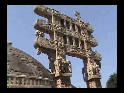 ANCIENT BUDDHIST STUPA AT SANCHI - INDIA PART 35