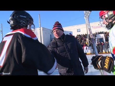 Александр Бурков открыл в Черлаке муниципальный турнир по хоккею с шайбой среди  школьных команд