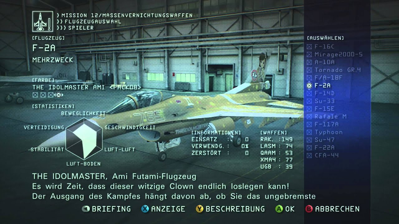 Ace Combat 6 All Unlockable Paintschemes Dlc Planes Youtube