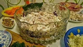 Салат шапка мономаха рецепт из курицы как приготовить блюдо вкусно пошагово ужин быстро видео