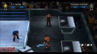 "(PS2) WWE Smackdown vs RAW 2006 ""Hardcore"" Gameplay Online (Triple H vs The Undertaker) [08/11/2013]"