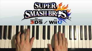 How To Play - Super Smash Bros. 4 - Main Theme (PIANO TUTORIAL LESSON)