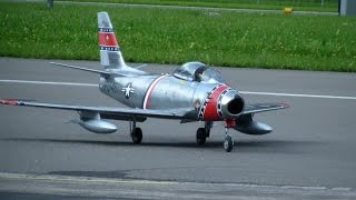 R/C North American F-86 Sabre Scale Turbine Modell Jet Fighter Skyblazers