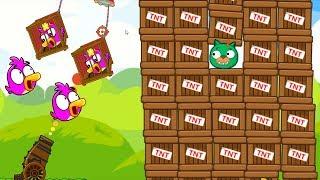 Angry Birds Cannon Collection 1 - RESCUE GIRLFRIEND AFTER BLASTING PIGGIES WITH 1000 TNT!