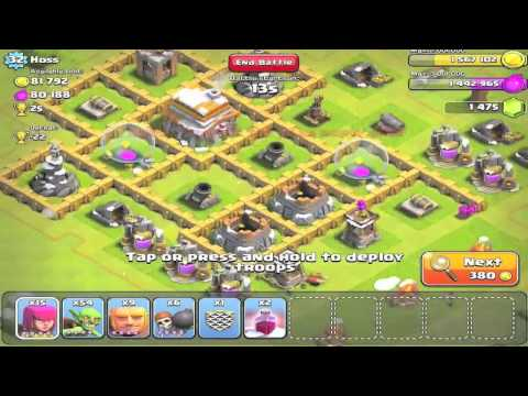 Clash of Clans - Farming for Gold, Elixir | Without Loosing Trophies - Strategy Part 2