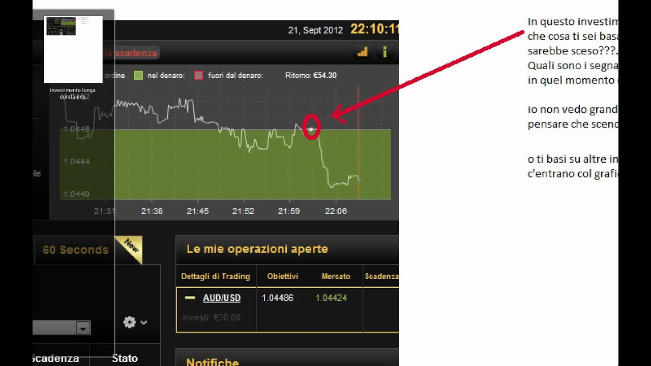 Strategie trading binario 60 secondi light