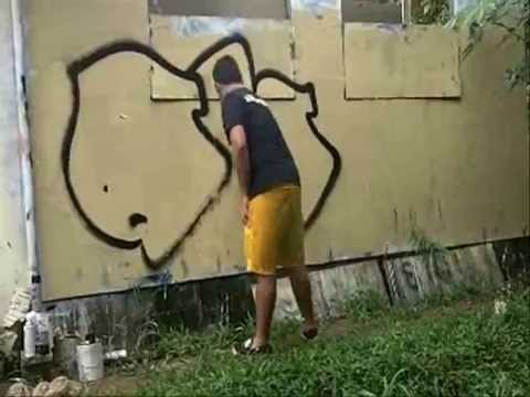 Anon Throwie guam graffiti