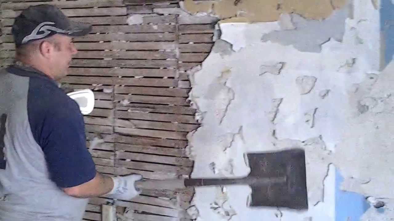 Diy how to remove lath and plaster part 1 plaster youtube for Is there asbestos in old drywall