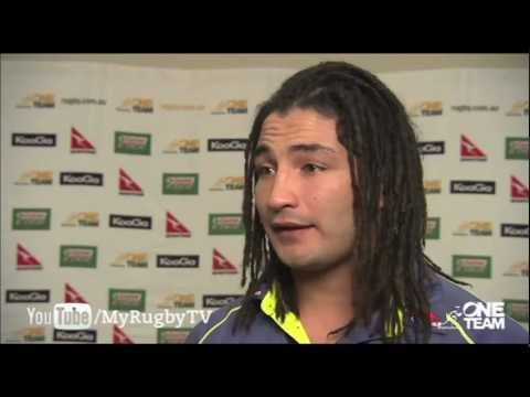 Saia Faingaa on the Bledisloe Cup