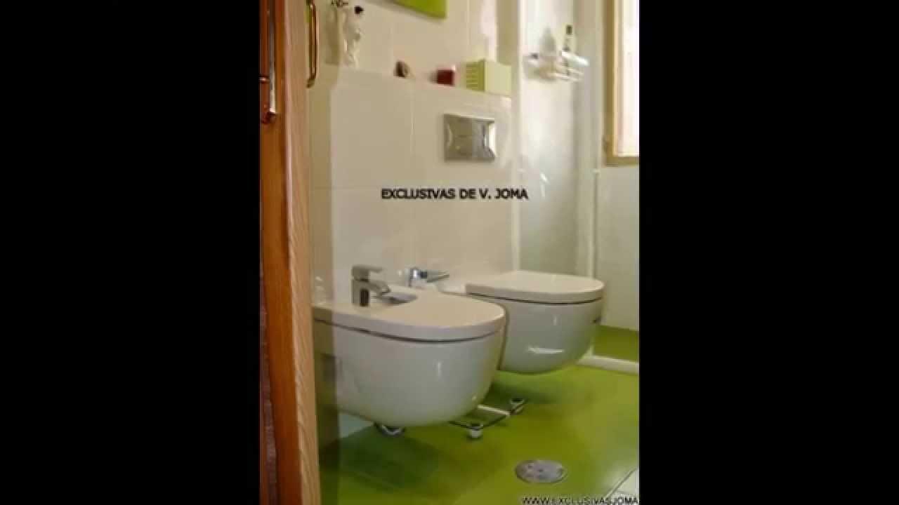 Baño Verde Con Blanco: de baño en Tres Cantos en verde pistacho y blanco olas – YouTube