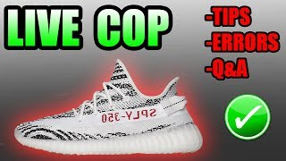 LIVE COPPING The YEEZY 350 V2 ZEBRA ! | TIPS / ERRORS / Q&A