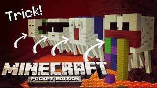 ✔️Minecraft PE 0.14.2 - CUSTOM GHAST TRICK // Dressed up Ghasts trick/glitch [MCPE]