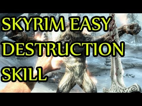 Skyrim GLITCH Level Destruction Skill Easily. For PC/360/PS3