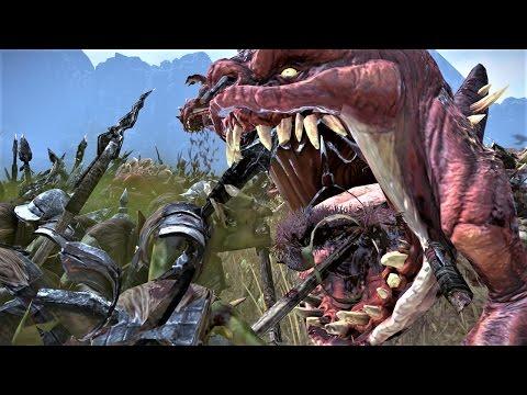 2000 Squigs vs 2000 Goblins Warhammer Total War