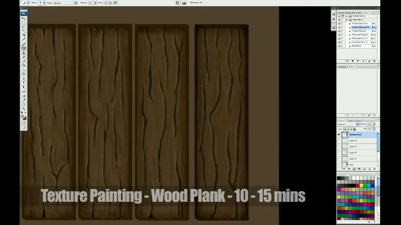 Texture Painting Wooden Planks - YouTube