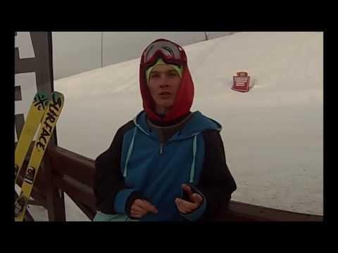 Лыжи. Видеоурок 1.1. Прямой прыжок. Коссов Евгений.