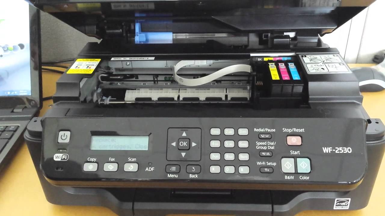 cleaning epson printer heads manually