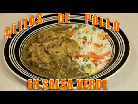 Alitas de Pollo en Salsa Verde - Recetas en Casayfamiliatv