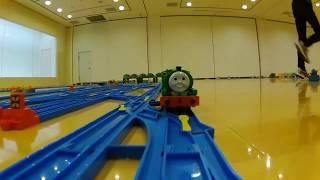 """【プラレール前面展望(Plarail Camera Car)】きかんしゃトーマス完全再現レイアウト~Reproduction of """"Thomas and Friends"""" ~<ソドー鉄道本線編>"""