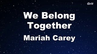 We Belong Together Mariah Carey Karaoke With Guide Melody
