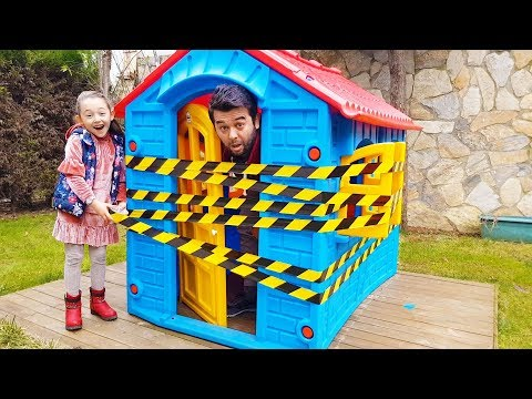 Dad Fell Asleep, Öykü has Repaired the Game House - Funny Oyuncak Avı