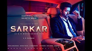 Sarkar Official  First look Fan Made Latest Information Update