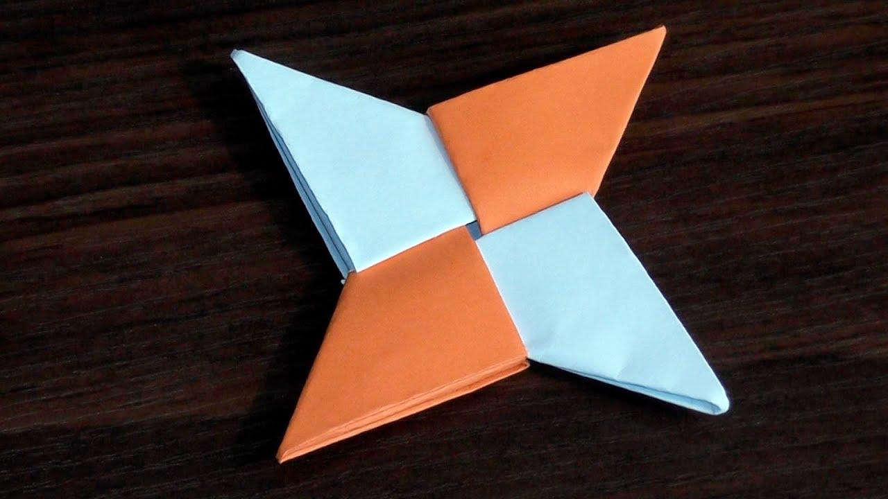 Оригами из бумаги своими руками сюрикен