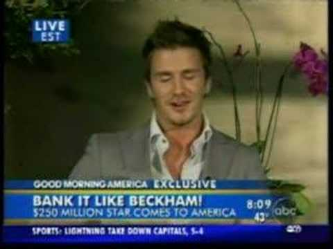 Hilarious David Beckham Interview (funny dubbed!)