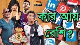 সোশ্যাল মিডিয়া থেকে তারকাদের আয়। Who Make The Most Money Per Instagram Post   Star Golpo Global