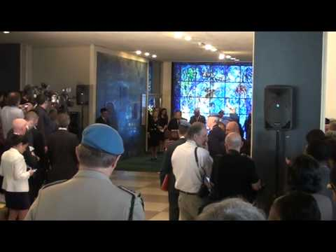 Sec-Gen Ban Ki-moon leads wreath-laying ceremony UN HQ