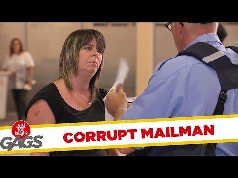 Corrupt Mailman Opens Letters!