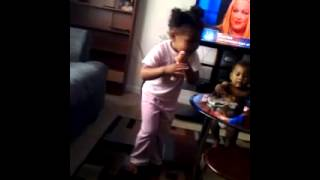 "Riah singing ""I feel your spirit"" by hez walker"